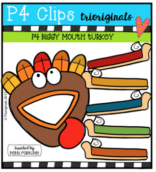 FREE P4 BIGGY MOUTH Turkey (P4 Clips Trioriginals Clip Art)