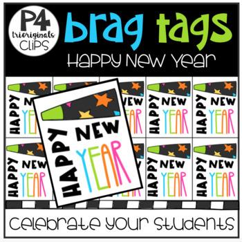 FREE P4 BRAG TAGS Happy New Year (P4 Clips Trioriginals)