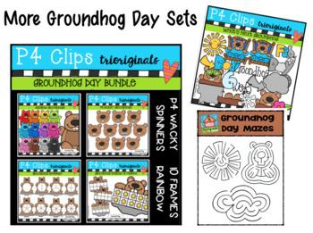 FREE P4 BRAG TAGS What's Up Groundhog? (P4 Clips Trioriginals)