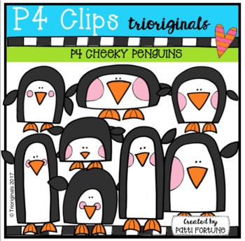 FREE P4 CHEEKY Penguins (P4 Clips Trioriginals Clip Art)