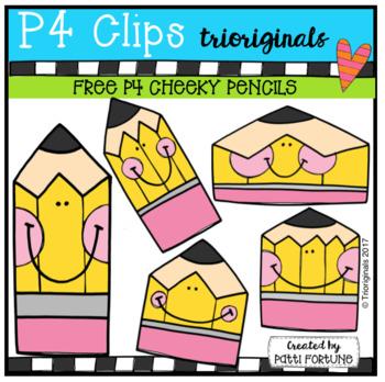 FREE P4 CHEEKY pencils (P4 Clips Trioriginals