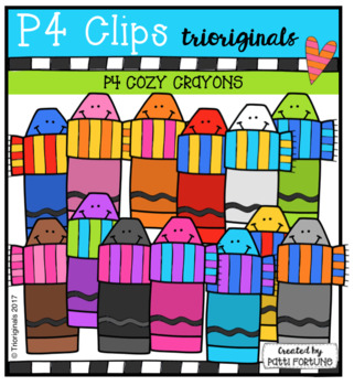 P4 COZY Crayons (P4 Clips Trioriginals Clip Art)
