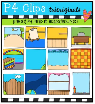 FREE P4 FIND IT Backgrounds{P4 Clips Triorignals Digital Clipart}