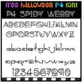 FREE P4 FONT Spidy Webby (P4 Clips Trioriginals)