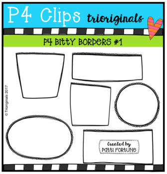 FREE P4 LITTLE BITTY Frames #1 (P4 Clips Trioriginals Clip Art)
