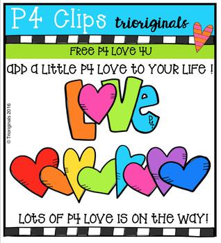 FREE P4 LOVE 4U (P4 Clips Trioriginals Digital Clip Art)