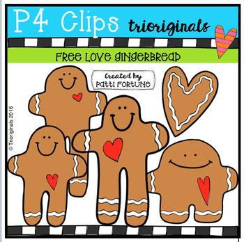 FREE P4 LOVE Gingerbread (P4 Clips Trioriginals Digital Clip Art)