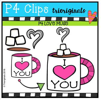 P4 FREE LOVE Mugs (P4 Clips Trioriginals Digital Clip Art)