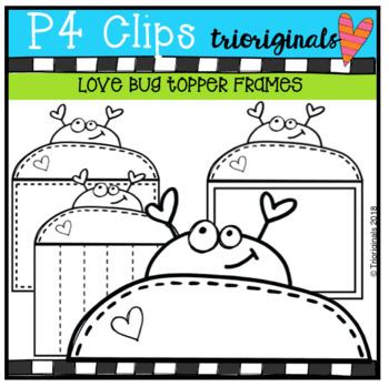FREE P4 Love Bug Topper Frames (P4 Clips Trioriginals)
