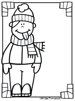 FREE P4 MY BOOK My Snowflake Book CATCHING SNOWFLAKES (P4 Clips)