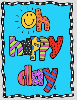 FREE  P4 POSTER Oh Happy Day {P4 Clips Triorignals Digital Clipart}