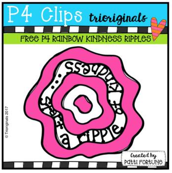 FREE P4 RAINBOW Kindness Ripple (P4 Clips Trioriginals Clip Art)