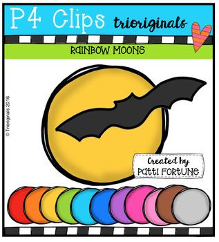 FREE P4 RAINBOW Moons {P4 Clips Trioriginals Digital Clip Art}