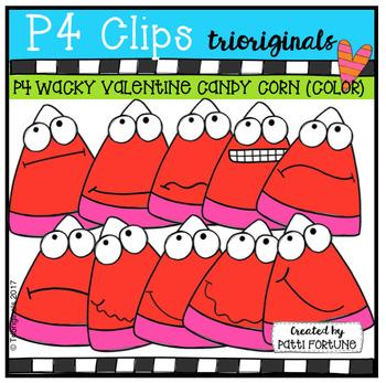 FREE P4 WACKY Valentine Candy Corn (P4 Clips Trioriginals Clip Art)