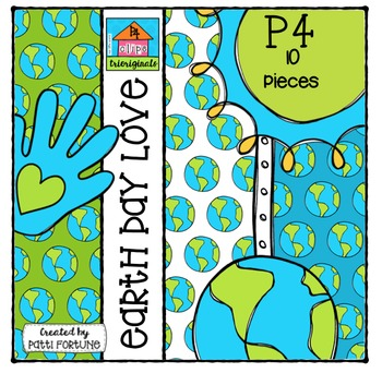 FREE P410 Earth Day Love {P4 Clips Trioriginals Digital Clip Art} by trioriginals