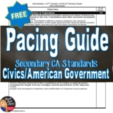 FREE! PACING GUIDE Civics/U.S. Government (Secondary 12th Grade)