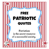 FREE ... PATRIOTIC Quotes for Bulletin Boards ⭐ Freebie