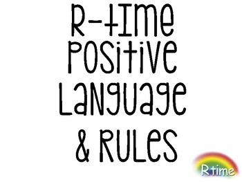 FREE PBIS Positive Language & R-Time Rules