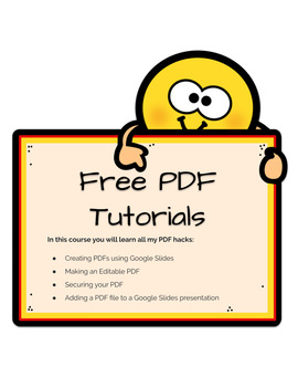 FREE PDF Tutorials for Teachers and Sellers