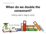 FREE PDF: When to Double a Consonant When Adding a Suffix!