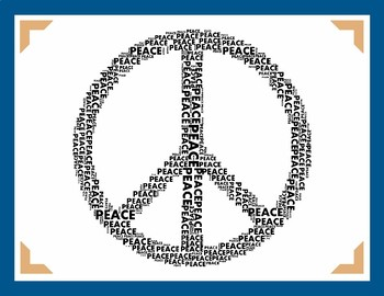 PEACE POSTER Classroom Display