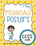 PEMDAS Poster - Evaluating Expressions {FREEBIE}