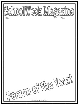 "FREE ""PERSON OF THE YEAR""  MAGAZINE COVER FOR ALL-PURPOSE WRITING FUN"