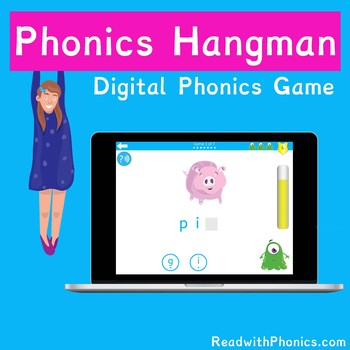 FREE! Phonics Hangman Game. Online Digital Phonics Games | Word Comprehension