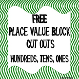 FREE PLACE VALUE BLOCK CUT OUTS