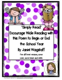 FREE POEM To Give Your Students at the End of the School Year
