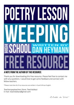 FREE POETRY LESSON // WEEPING