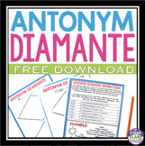 FREE POETRY WRITING ACTIVITY - ANTONYM DIAMANTE