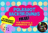 FREE POLKADOT BACKGROUNDS