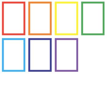 FREE: POSTER BORDER (rainbow, 7 borders)