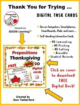"""Where's the Turkey?"" FREE PREPOSITIONS Internet DIGITAL CARDS ... FREEBIE"