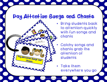 FREE PREVIEW:  Pay Attention Chants and Songs