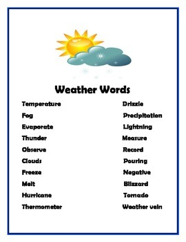 FREE PREVIEW Vocabulary Sheets