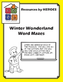 FREE PREVIEW - WORD MAZE PUZZLE (Winter Themed)