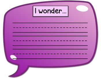 FREE PREVIEW! Wonder Bubbles for Wonder Wall and Genius Hour
