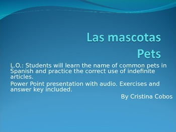 FREE PRODUCT...From my desk to yours LAS MASCOTAS- Pets