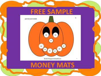 FREE Page from Jackpot Jackolanterns Coin Counting Mats