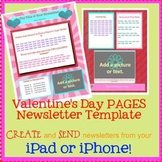 FREE Pages VALENTINE Template - Create on the Go Using iPhones & iPads!
