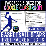 FREE Paired Texts for Google Classroom (5-6): LeBron & Cur