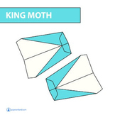 FREE Paper Airplane Diagrams | King Moth ( Great for Fun A