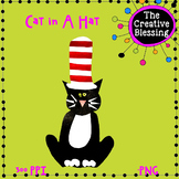 FREE Paper Cat in A hat Clip Art