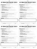 FREE! Paper Saving Behavior Notes (English & Spanish)!