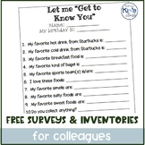 FREE Paraprofessional Likes/Interests Questionnaire & Comm
