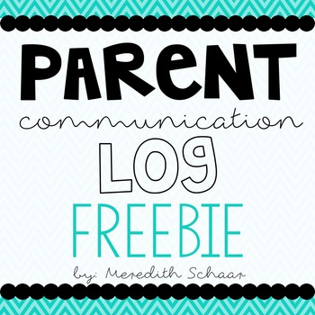 FREE Parent Communication Binder