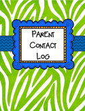 FREE Parent Contact Log and Positive Post Cards Set