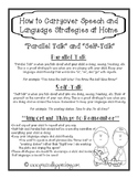 "FREE Parent Handouts for ""Self Talk"" and ""Parallel Talk"""